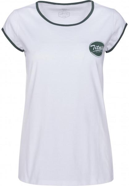 TITUS T-Shirts Circular-Girls white-petrolmottled Vorderansicht