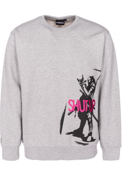 Fourasses Sweatshirts und Pullover Samurai grey vorderansicht 0422657