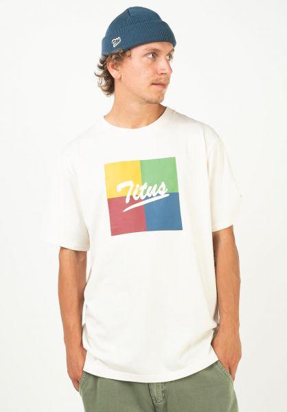 TITUS T-Shirts Makar offwhite vorderansicht 0320918