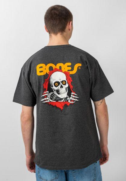 Powell-Peralta T-Shirts Ripper charcoal-heather vorderansicht 0363344