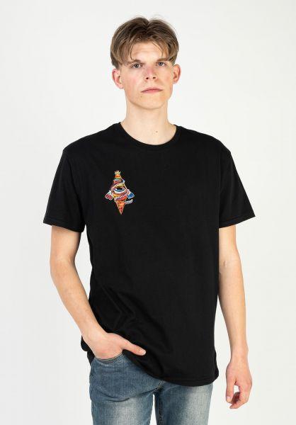 Brixton T-Shirts Bohemian black vorderansicht 0323180