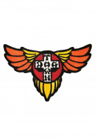 Dogtown-Verschiedenes-Wings-Patch-red-orange-yellow-Vorderansicht