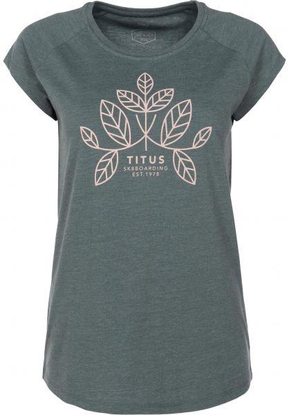 TITUS T-Shirts Autumn petrolmottled Vorderansicht