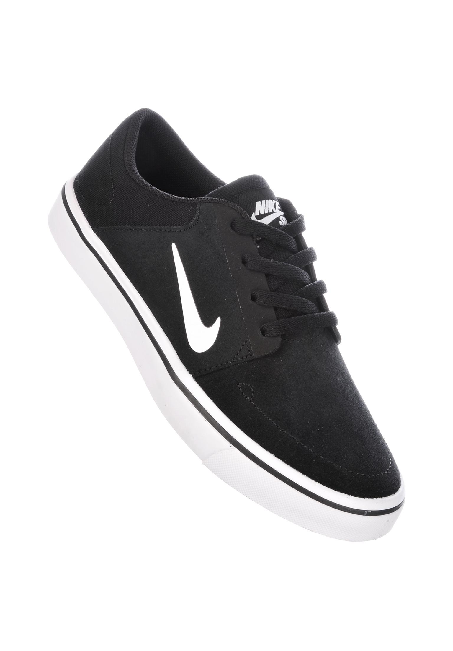 Portmore GS Nike SB All Shoes in black-white for Kids  9f71cb792