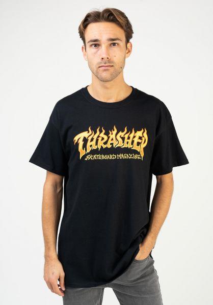 Thrasher T-Shirts Fire Logo black vorderansicht 0323413