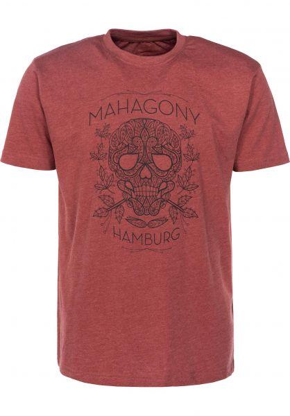 Mahagony T-Shirts Dia red Vorderansicht