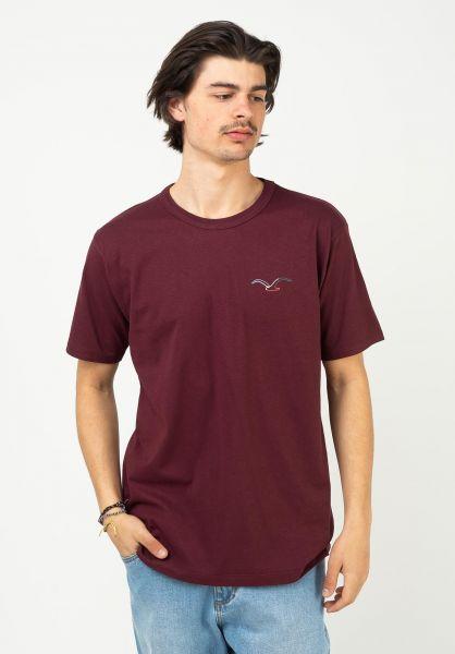 Cleptomanicx T-Shirts Möwe Color portroyale vorderansicht 0322205