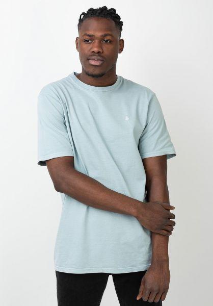 Volcom T-Shirts Solid Stone Emb coolblue vorderansicht 0320386