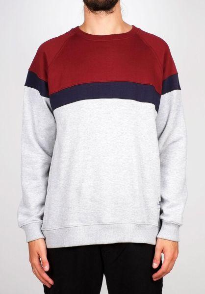 Dedicated Sweatshirts und Pullover Malmoe Stripe greymelange vorderansicht 0422621