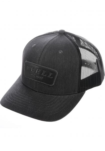 Reell Caps Curved Trucker charcoal vorderansicht 0565992