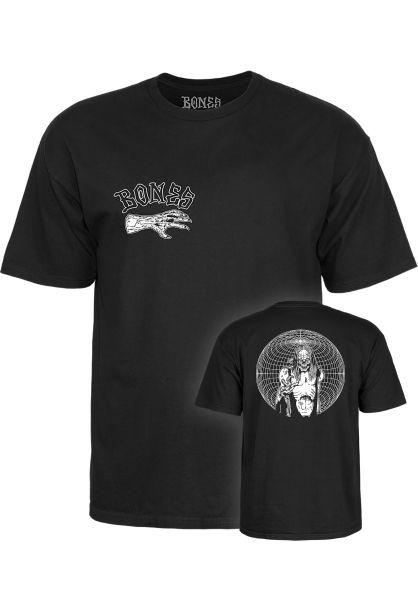 Bones Wheels T-Shirts Nightmare black vorderansicht 0399531