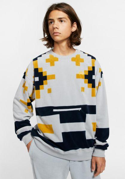 Nike SB Sweatshirts und Pullover Icon Nomad wolfgrey-darksulfur vorderansicht 0422840