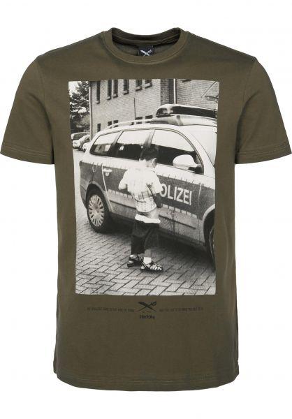 iriedaily T-Shirts Pissizei olive Vorderansicht
