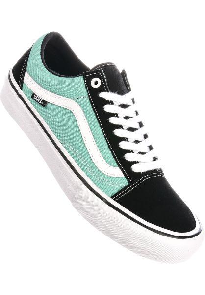 Vans Alle Schuhe Old Skool Pro black-jade vorderansicht 0603817