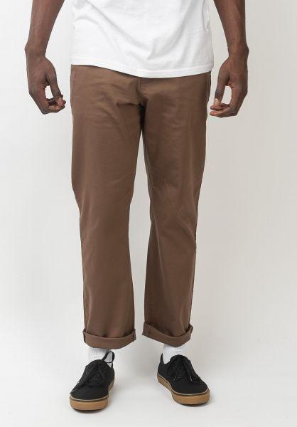 Reell Chinos und Stoffhosen Regular Flex Chino brown vorderansicht 0204132
