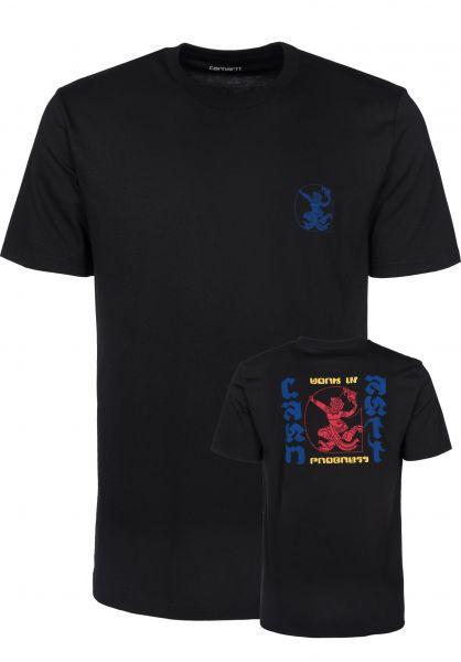 Carhartt WIP T-Shirts High Kicks black Vorderansicht