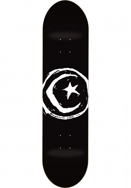 Foundation Skateboard Decks Star & Moon black Vorderansicht