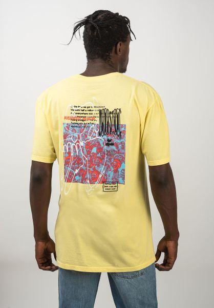 HUF T-Shirts x Woodstock Nobody yellow vorderansicht 0320645