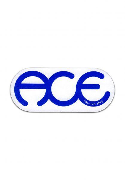 """Ace Verschiedenes Rings Logo Sticker 3"""" blue vorderansicht 0972247"""