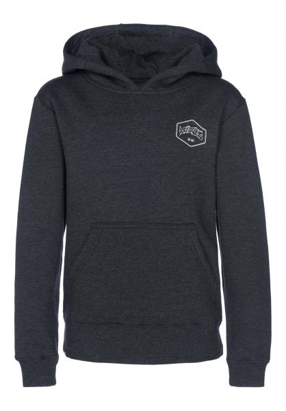 TITUS Hoodies Hexagon Kids darkgreymottled Vorderansicht 0443646