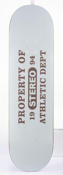 Stereo Skateboard Decks Athlethic Dept white vorderansicht 0260121