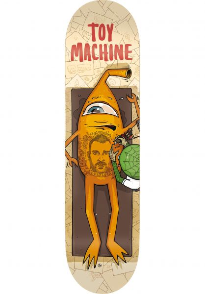 Toy-Machine Skateboard Decks Overlord beige Vorderansicht