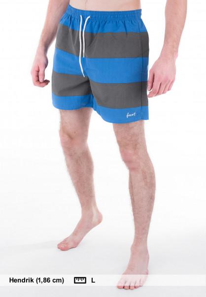 Forvert Beachwear Korfu grey-blue Vorderansicht
