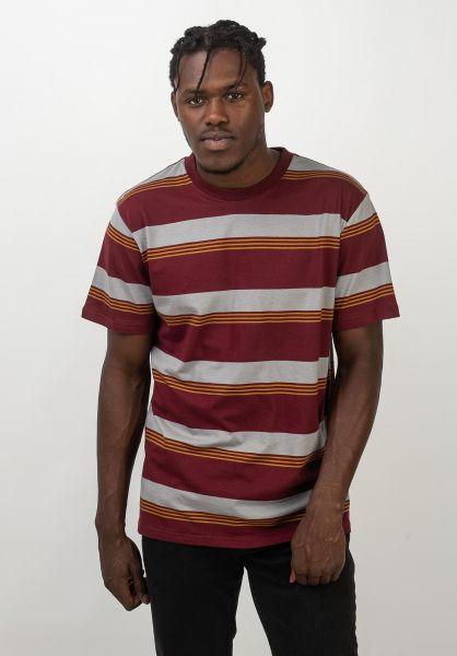 Brixton T-Shirts Hilt maroon vorderansicht 0320409