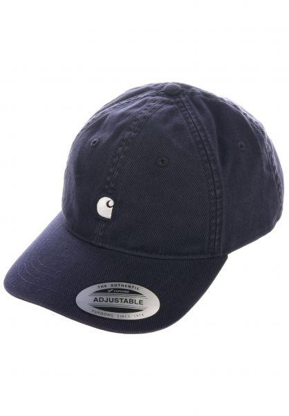 Carhartt WIP Caps Madison Logo Cap darknavy-wax vorderansicht 0565940