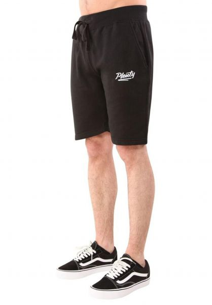 Plenty Humanwear Shorts Script Fleece Short black Vorderansicht