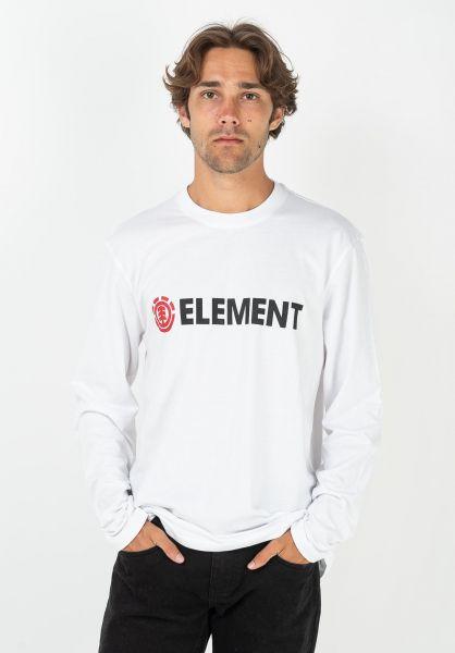 Element Longsleeves Blazin opticwhite vorderansicht 0383858