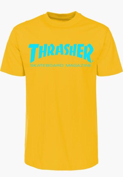 Thrasher T-Shirts Skate-Mag gold vorderansicht 0038081