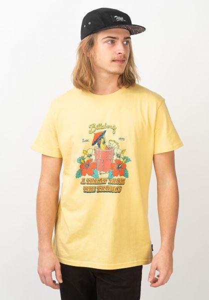 Billabong T-Shirts Maitai mellow-yellow vorderansicht 0320671