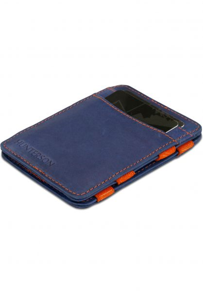 Hunterson Portemonnaie Magic Wallet RFID blue-orange vorderansicht 0781046