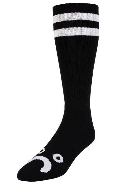 Polar Skate Co Socken Happy Sad Classic black vorderansicht 0632130