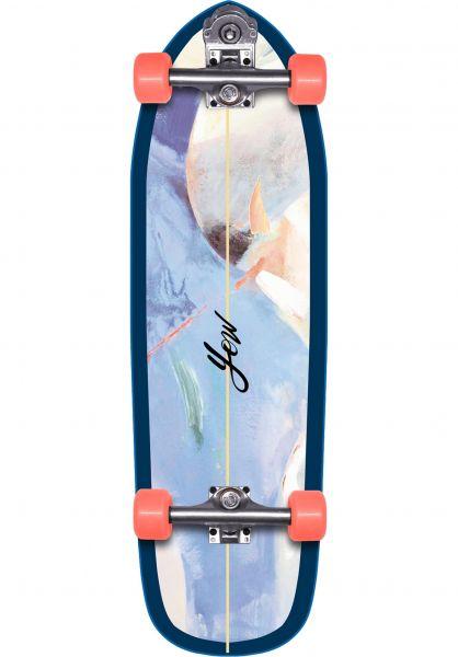 YOW Cruiser komplett Mundaka Surfskate blue vorderansicht 0252474
