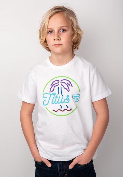 TITUS T-Shirts Neon Kids white vorderansicht 0398391