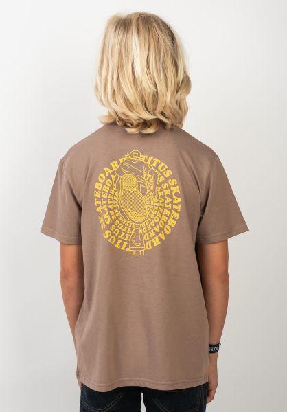 TITUS T-Shirts Naim Kids ginger vorderansicht 0399263