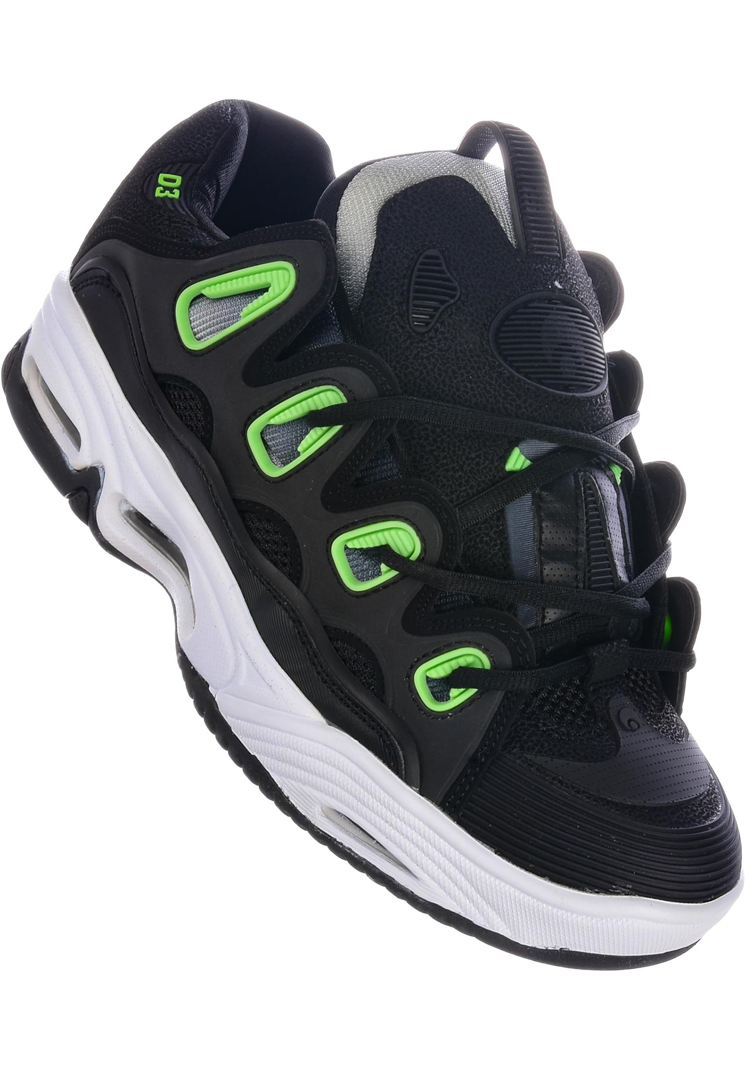 a7f9c246c1c D3 2001 Osiris All Shoes in black-white-green for Men | Titus