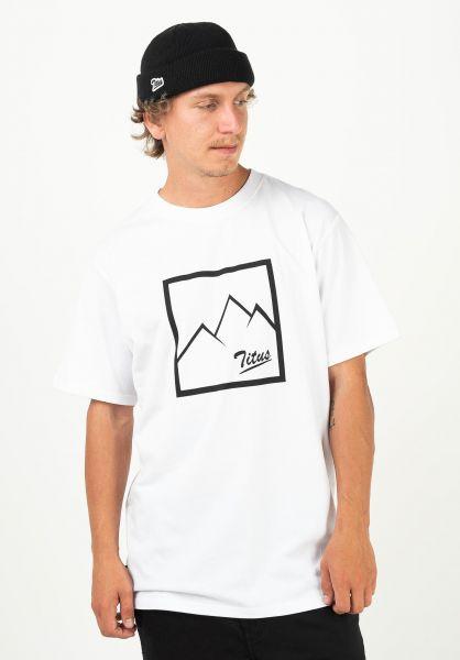 TITUS T-Shirts Jascha white vorderansicht 0321826