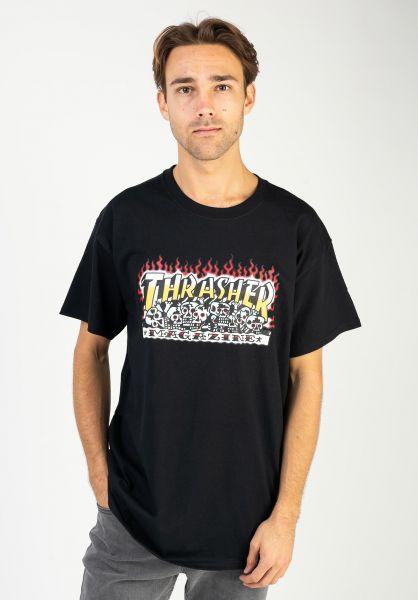 Thrasher T-Shirts Krak Skulls black vorderansicht 0323416