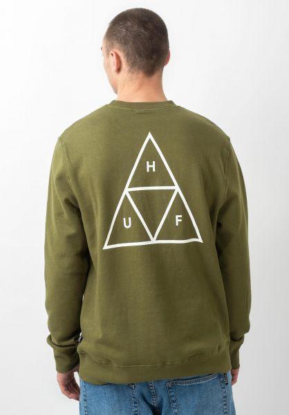 HUF Sweatshirts und Pullover Triple Triangle martini-olive vorderansicht 0421819