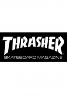 Thrasher-Verschiedenes-Skate-Mag-Medium-Sticker-black-Vorderansicht