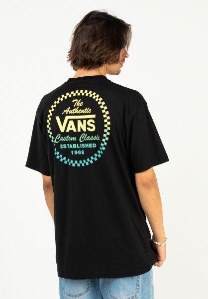 Vans T-Shirts Custom Classic black vorderansicht 0324239
