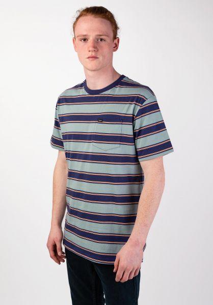 Brixton T-Shirts Hilt Pocket bluestone vorderansicht 0399858