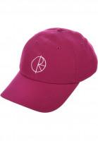 Polar Skate Co Caps Camper Dad Hat fuchsia Vorderansicht