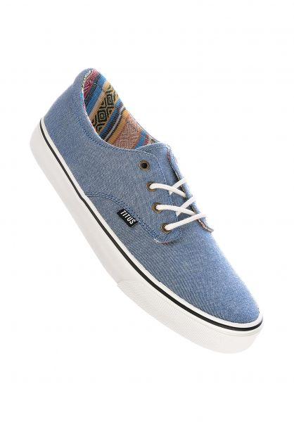 TITUS Alle Schuhe Clubman Women chambray-lightblue-white vorderansicht 0612519