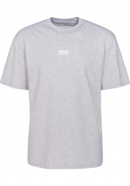 Sour Skateboards T-Shirts Hourglass grey-white Vorderansicht
