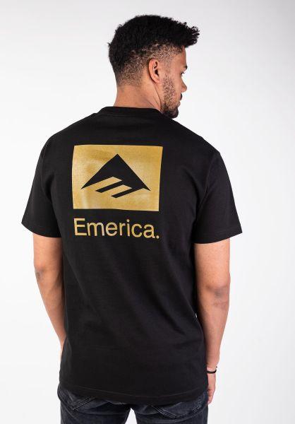 Emerica T-Shirts Brand Combo black-gold vorderansicht 0396694