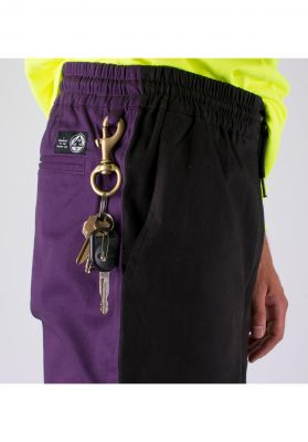 Welcome Dark Wave Split-Color Elastic Pant